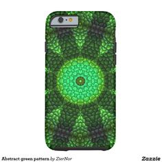 Abstract green pattern tough iPhone 6 case