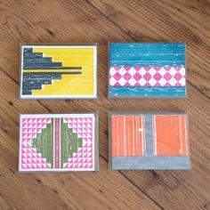 Letterpress Boxed Note Cards - Neon Nomad - Hammerpress
