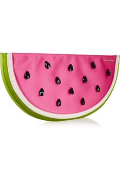 CHARLOTTE OLYMPIA I Carried A Watermelon embellished satin clutch Was $795   Now $397.50