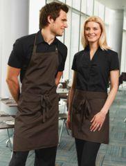 spa waitress uniform male and female Cafe Uniform, Waiter Uniform, Hotel Uniform, Staff Uniforms, Work Uniforms, Kellner Uniform, Bartender Uniform, Waitress Outfit, Cafe Apron