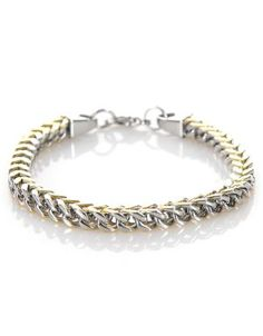 Androgynous Two Toned Chain Bracelet Gold/Silver #moddeals