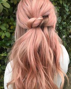 Light Pink Hair, Hair Color Pink, Cool Hair Color, Pastel Pink Hair, Bad Hair, Hair Day, Peach Hair, Rose Gold Hair Blonde, Hair Looks