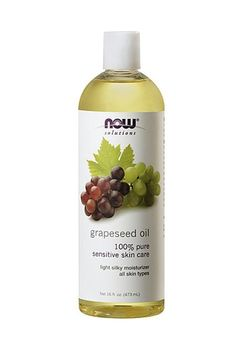 Grapeseed oil is unscented. This oil stimulates circulation and is light enough that it won't stain your sheets if you wear it to bed. But, the real powerhouse ingredient in grapeseed oil is linoleic acid. It's a fatty acid that's great for your skin. It's good for pulling toxins out of your skin. NOW SOLUTIONS GRAPESEED OIL.