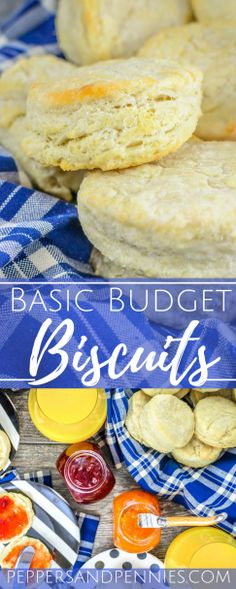 These basic biscuits are the perfect budget addition to soups, stews, roasted meats and even make a great breakfast; hot and fresh out the kitchen! Savory Bread Recipe, Bread Maker Recipes, Lunch Box Recipes, Dessert Recipes, A Food, Good Food, Babka Recipe, Basic Cookies, Baking Basics