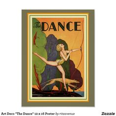 "Art Deco ""The Dance"" 12 x 16 Poster  $13.00"