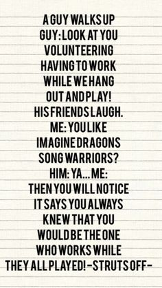 Haha!! Imagine dragons song.