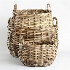 Tag 202222 Rattan Storage Baskets (Set of 3)