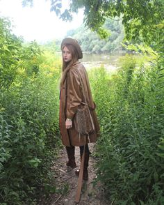 Whiskey Brown Belted Vintage LEATHER COAT 60s Hipster Hippie Festivals long length JACKET BoHo Western Women Autumn Color Campus Trench Coat by HarlowGirls on Etsy