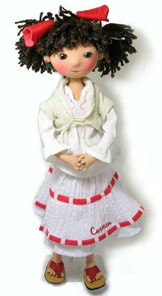 fabric doll, muñeca de tela