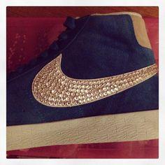 Nike Blazer Schwarz Gold Glitzer