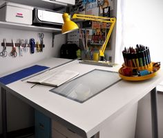 I have a drafting table like this, perhaps I should actually utilize it.