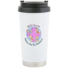 NICU Nurse - Stainless Steel Travel Mug - Stainless Steel Travel Mug, Nurse Gift Insulated 16 oz. Coffee Tumbler