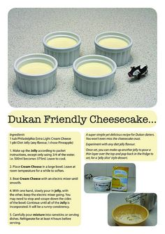Dukan cheesecake recipe -- just cream cheese and jello :o dukan diet plan, Dukan Diet Plan, Dukan Diet Recipes, No Carb Recipes, Cooking Recipes, Vegetarian Cooking, Apple Recipes, Healthy Work Snacks, Healthy Foods To Eat, Diabetic Snacks