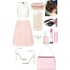 Peachy Pink by fasha0903 on Polyvore featuring polyvore, fashion, style, Topshop, Ted Baker, Lipsy, Kate Spade, Revlon and Essie