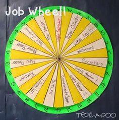 A job wheel makes changing classroom jobs a snap!