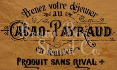 French Stencil - Cacao Payraud- 12x20 - mylar stencil - French Stencil by BrownBagStencilCo on Etsy https://www.etsy.com/listing/208228625/french-stencil-cacao-payraud-12x20-mylar
