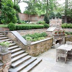 Retaining Wall - Terrace Fireplace