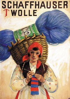 Barberis / Laubi - Schaffhauser Wolle,vintage wool yarn advert,1938
