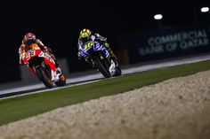 World Champion Marc Marquez started his MotoGP™ title defence with a victory in Qatar, beating Valentino Rossi in a close battle, with Dani Pedrosa coming home third Motorcycle News, Marc Marquez, Vr46, Valentino Rossi, Motogp, Motocross, Sports, Pictures, Live Free
