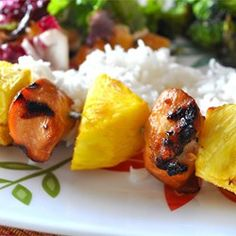 This dish is a hit Everyone loves it Hawaiian kabobs - click for recipe