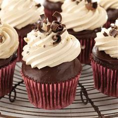 Chocolate Ganache Peanut Butter Cupcakes Recipe from Taste of Home