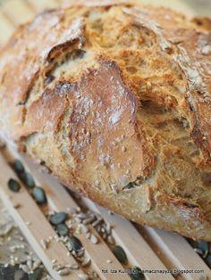 chleb-pszenny-z-naczynia-zaroodpornego Yummy Food, Vegan, Baking, Gastronomia, Breads, Brot, Delicious Food, Bakken, Vegans