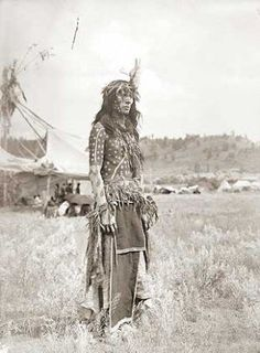 Northern Cheyenne man prepared as a Sundancer - circa 1909