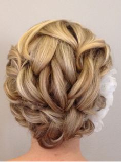 Are you planning to wear your hair up or down?This is a beautific updo :) Idk yet but I do like this.