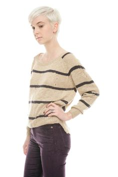 Studio Stripe Sweater