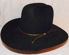 Resistol 3X Beaver Black Western Cowboy Hat 4