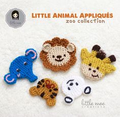 Check out these cute animal appliques by Doris Yu (Little Mee Creations)! Add them to any project with Vanna's Choice! Get the crochet pattern (paid pattern) now on Ravelry.