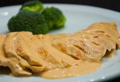 Pechuga de pollo en crema de chipotle