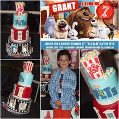 Secret Life of Pets themed party Cake by Pink Blossom Bakery, Nashville TN