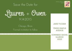Save the Date postcards - Exclusive Designs from r3mg - www.r3mg.com