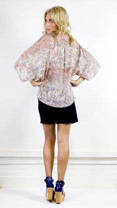 The gorgeous blouse is easy to wear day and night, formal or casual