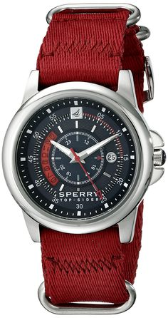 Sperry Top-Sider Men's 10018682 Skipper Analog Display Japanese Quartz Red Watch