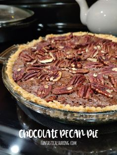 Fantastical Sharing of Recipes: Chocolate Pecan Pie, FantasticalFoodFight Easy No Bake Desserts, Dessert Recipes, Pie Recipes, Peanut Butter Desserts, No Bake Bars, Baked Banana, Salted Chocolate, Those Recipe, Different Recipes
