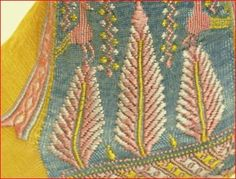 1800s stockings | Embroidered Yellow Stockings, English, Early 1800s. (From ... | Vinta ...