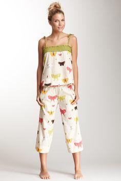Munki Voile Flutter Tank & Pant Pajama Set - adorable pattern!
