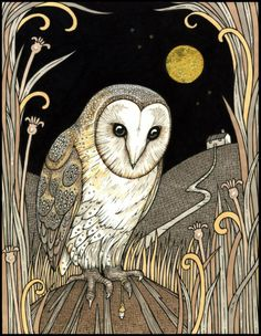 Shop for owl art from the world's greatest living artists. All owl artwork ships within 48 hours and includes a money-back guarantee. Choose your favorite owl designs and purchase them as wall art, home decor, phone cases, tote bags, and more! Illustration Art Dessin, Illustrations, Cat Ideas, Owl Artwork, Owl Moon, Posca Art, Moon Drawing, Beautiful Owl, Bird Art