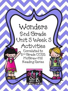 The Glyph Girls have created this 34 page product to supplement Week 5 of Unit 5 of the McGraw-Hill Wonders Reading Series. Activities target specific phonics skills, high frequency words, vocabulary, and spelling, for the week. They provide practice for Literacy Stations, small group instruction, or homework.