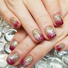 This post contains the best Shimmering Christmas Nails. These nails are creative and fascinating. Blue Nail Designs, Christmas Nail Art Designs, Winter Nail Designs, Beautiful Nail Designs, Christmas Gel Nails, Holiday Nails, Party Nails, French Nails, Winter Nails