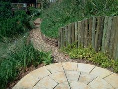 pathway leading to circle paving