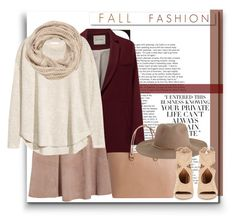 """""""F A L L F A S H I O N"""" by byjjbh ❤ liked on Polyvore featuring White Label, American Vintage, Iris & Ink, Pieces, Zimmermann, H&M, Aquazzura, maurices, NYFW and Fall"""