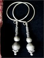 Antique Nuristani Tribal Jewelry Earrings