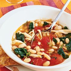 Chicken, White Bean, and Spinach Stew Recipe