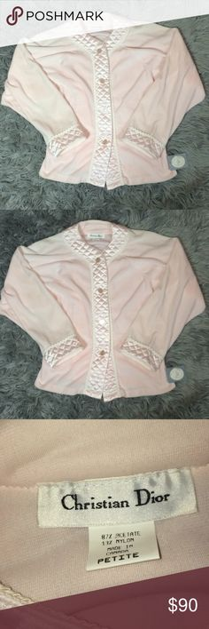 Christian Dior sleep pajama top baby pink NWT NWT - size petite - top is a  beautiful baby pink color with a quilted like trim Dior Intimates    Sleepwear d09098f2a