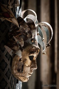 A Venetian carnival mask. there are hundreds of shop windows with these most amazing masks on display; incredibly artistic and ornate designs!