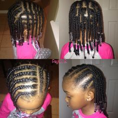 Box braids, cornrows, beads, natural hairstyles for kids hairstyles - Best Cornrow Hairstyles Black Toddler Hairstyles, Lil Girl Hairstyles, Natural Hairstyles For Kids, Kids Braided Hairstyles, My Hairstyle, Box Braids Hairstyles, Hairstyle Ideas, Short Hairstyles, Teenage Hairstyles