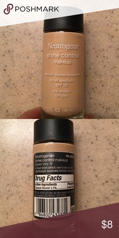 Shine control makeup Neutrogena shine control makeup in the shade Classic Ivory 10. About 60% left. Makeup